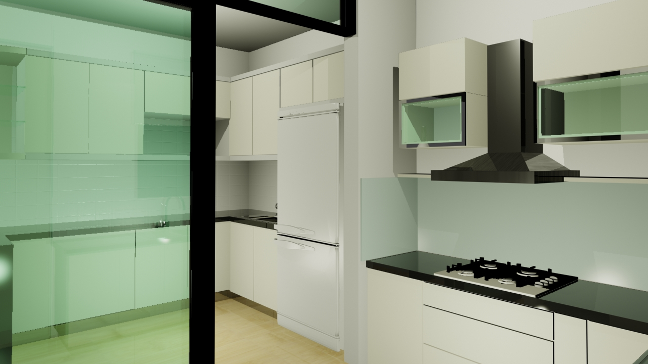 Wet And Dry Kitchen Design Malaysia