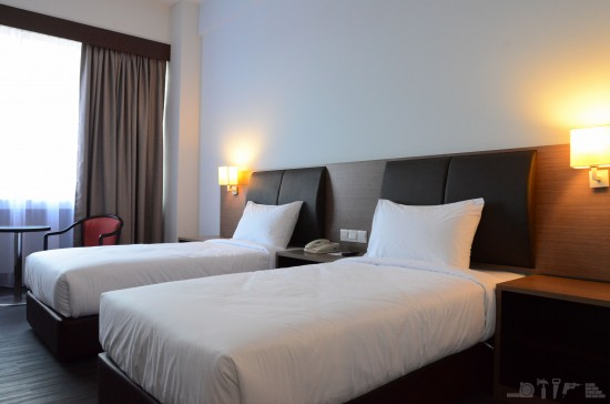 Bedroom for two at Hotel Melaka Sentral