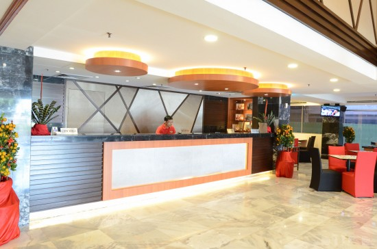 Check in counter at the lobby